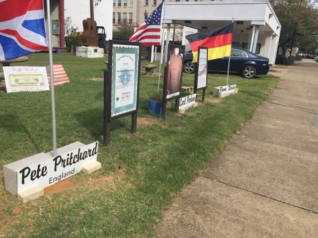 Flags outside Rockabilly Hall Of Fame