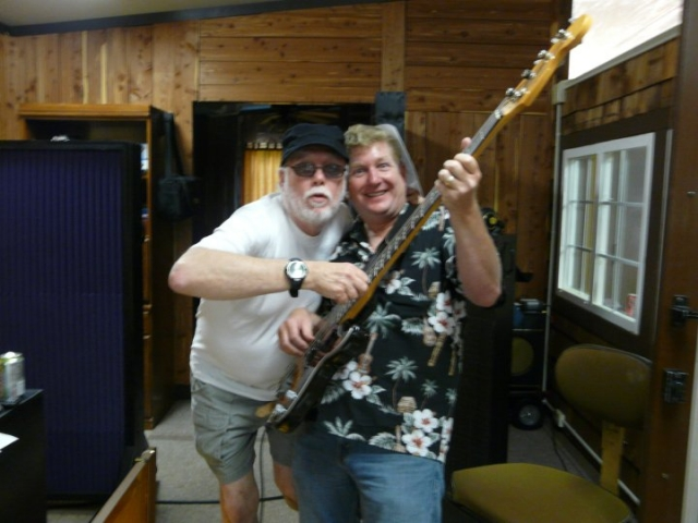 Billy Swan & Pete in the studio