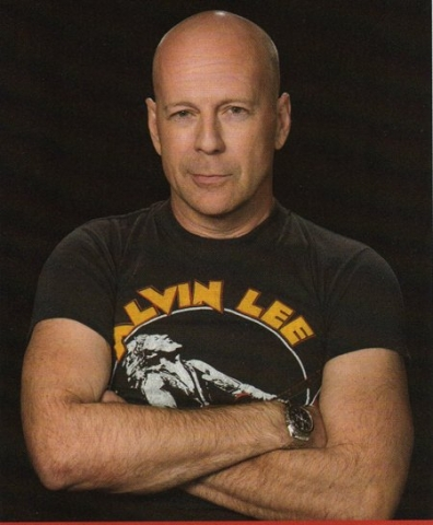 Bruce Willis in Alvin Lee t-shirt